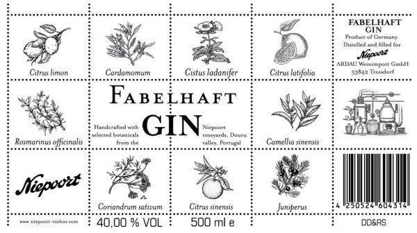 Fabelhaft Gin Niepoort 0,5 l